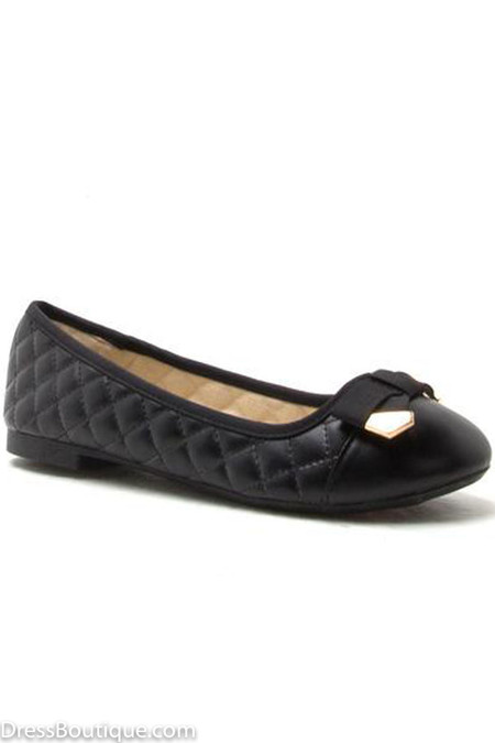 Black Quilted Ballerina
