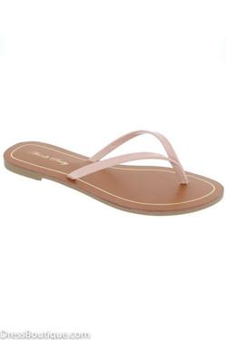 Blush Flat Sandal