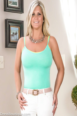 Mint Italian Tailored Cami Tank Top