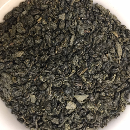 Gunpowder green loose leaf tea