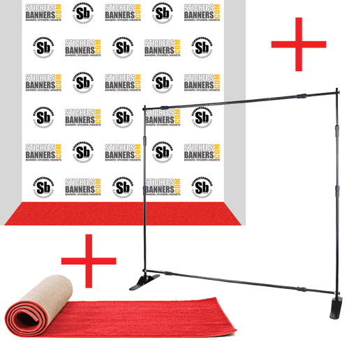 big sale 8 39 x 8 39 step and repeat banner. Black Bedroom Furniture Sets. Home Design Ideas