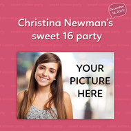 Sweet 16 Custom Step and Repeat Banner (#1)