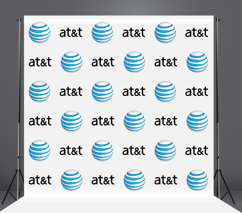 StickersBanners Featured Client: AT&T Custom Step and Repeat Banner