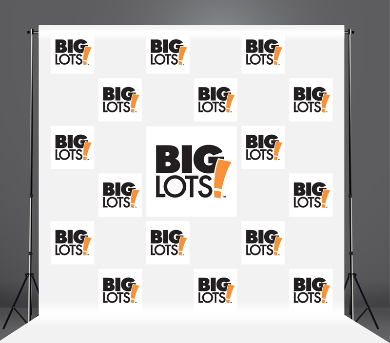 StickersBanners Featured Client: Big Lots Custom Step and Repeat Banner