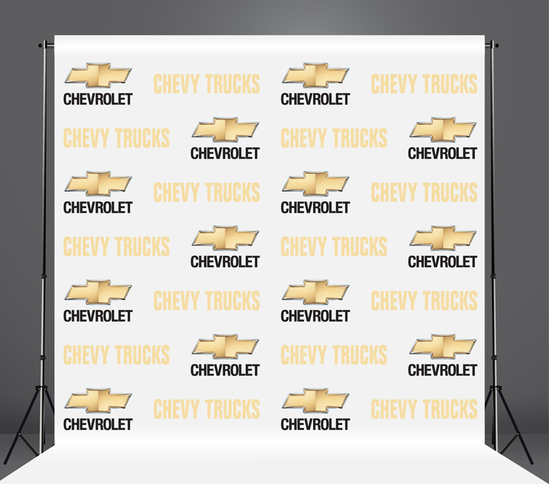 StickersBanners Featured Client: Chevrolet Custom Step and Repeat Banner