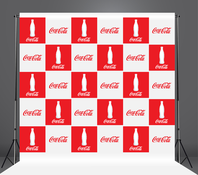 StickersBanners Featured Client: Coca Cola Custom Step and Repeat Banner