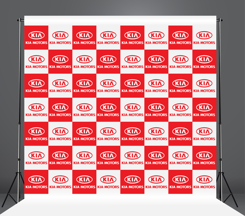 StickersBanners Featured Client: KIA Custom Step and Repeat Banner