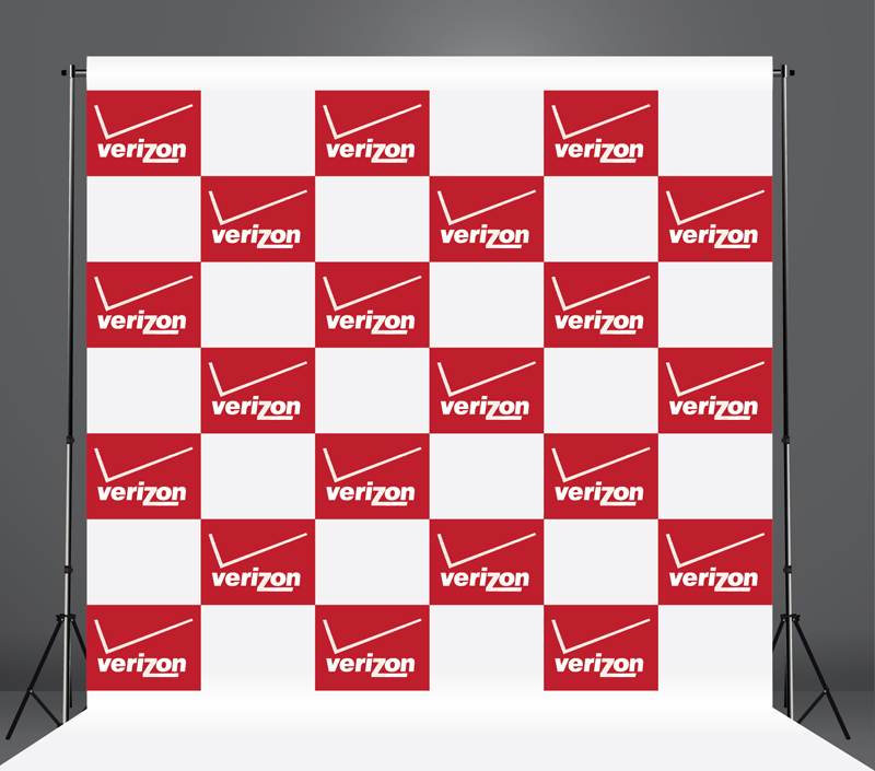 StickersBanners Featured Client: Verizon Custom Step and Repeat Banner