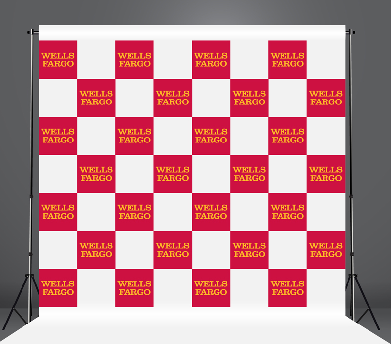 StickersBanners Featured Client: Wells Fargo Custom Step and Repeat Banner