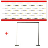 30' x 8' Fabric Step and Repeat Banner with Stand