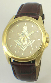 Gent's Leather Strap Goldtone Citizen Watch $134.00