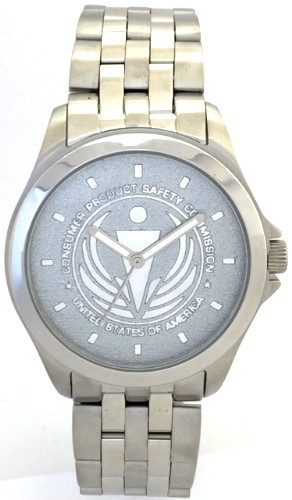 Consumer Protection Safety Commission Watch CPSC Watch Silver Background