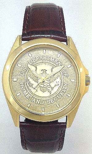 Homeland Security Watch Gold Dial