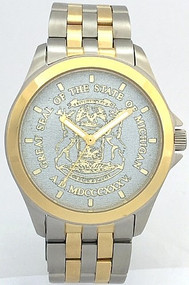 State of Michigan Watch Silver Dial