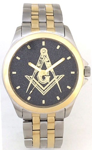 Masonic Square & Compass Watch Black Background