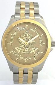 Masonic Past Master Watch Gold Background