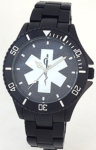 EMS Star of Life Watch Black Aluminum Black Dial