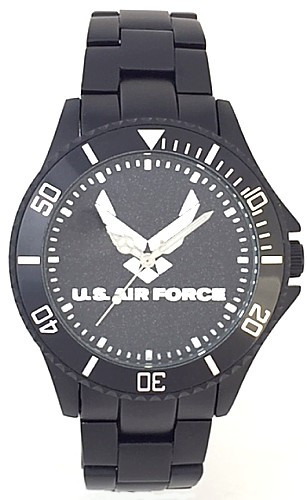 US Air Force Watch Black Aluminum Black Medallion Dial