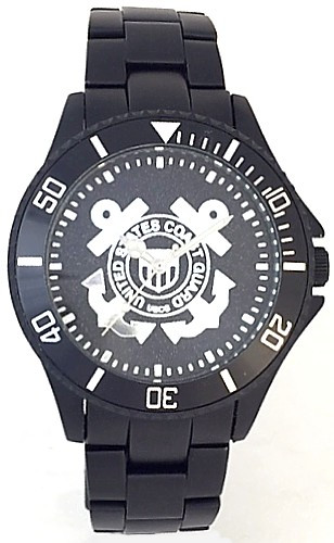 US Coast Guard Watch Black Aluminum Black Medallion Dial