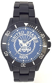 US Navy Watch Blue Medallion Dial