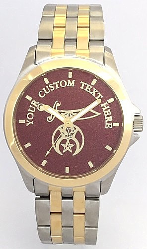 Custom Shriner Watch Dark Red Dial