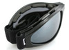 Bobster Crossfire Folding Goggle with Black Frame and Clear Lens