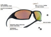 Bolle Ranger Tactical Safety Glasses Key Features