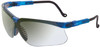 Uvex Genesis Safety Glasses with Vapor Blue Frame and Ref50 Lens