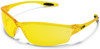 Crews Law 2 Safety Glasses with Amber Lens