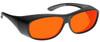 NoIR BluGard OTG Deluxe Nighttime Eyewear with Black Over-Prescription Large Frame and Orange Lens