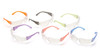 Pyramex Intruder Safety Glasses Box of 12 with Assorted Temple Colors and Clear Lens