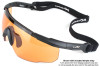 Wiley X Saber Advanced Ballistic Safety Glasses Kit with Matte Black Frame and Smoke Grey, Light Rust and Vermillion Lenses