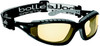 Bolle Tracker Safety Glasses with Black Frame and Yellow Anti-Scratch and Anti-Fog Lenses
