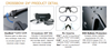ESS Crossbow 3LS Eyeshield Kit with Black Frame and Clear, Gray and Yellow Lenses