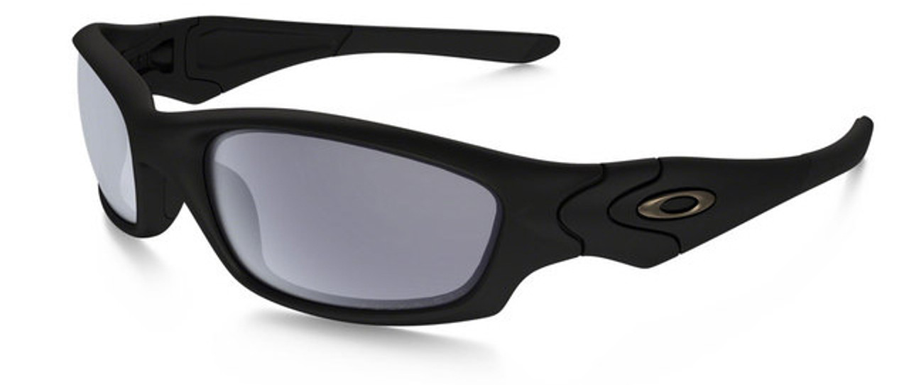 Oakley SI Straight Jacket with Matte Black Frame and Grey ...