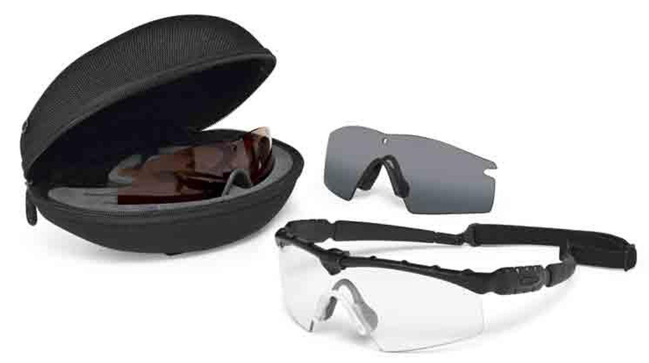 oakley z87 1 safety glasses mho4  Oakley SI Ballistic M Frame 20 Strike Array with Black Frame and Clear,  Grey and