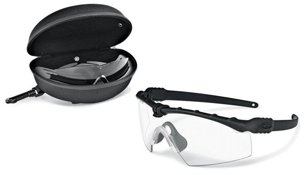 clear frame oakley sunglasses z8v7  Oakley SI Ballistic M Frame 30 Array with Black Frame and Clear and Grey  Lenses