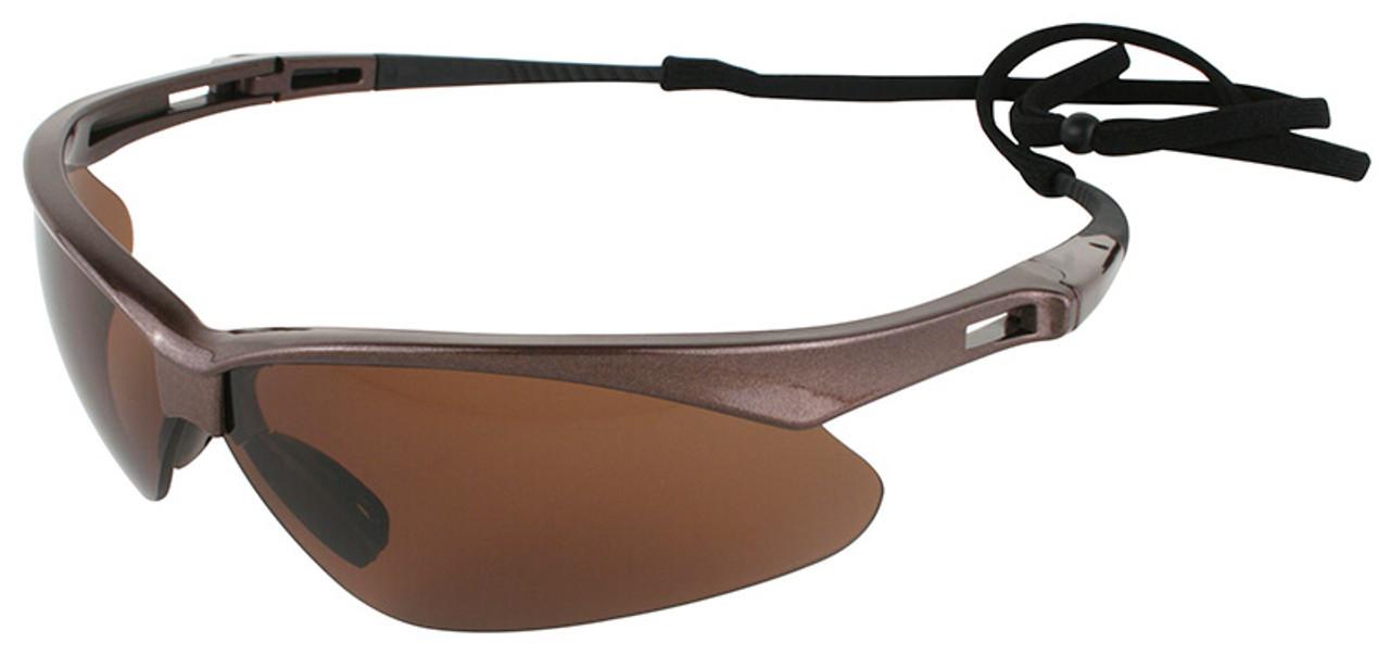Glasses Frame And Lens : Jackson Nemesis Polarized Safety Glasses with Brown Frame ...