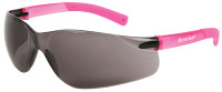 Crews Bearkat Small Safety Glasses with Pink Temples and Gray Lenses