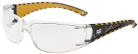 CAT Blaze Safety Glasses with Black Frame and Clear Lens