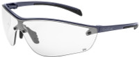 Bolle Silium Plus Safety Glasses with Graphite Colored Frame and Clear Anti-Fog Lens
