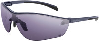 Bolle Silium Plus Safety Glasses with Graphite Colored Frame and Smoke Anti-Fog Lens