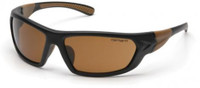 Carhartt Carbondale Safety Glasses with Black Frame and Sandstone Bronze Lens