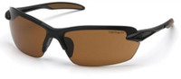 Carhartt Spokane Safety Glasses with Black Frame and Sandstone Bronze Lens