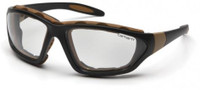 Carhartt Carthage Safety Glasses/Goggles with Black Frame and Clear Anti-Fog Lenses