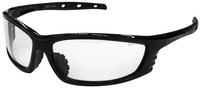 Radians Chaos Safety Glasses with Black Frame and Clear Lens