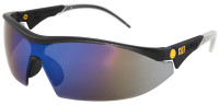 CAT Digger Safety Glasses with Black Frame and Blue Mirror Lens