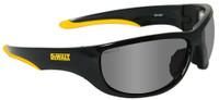DeWalt Dominator Safety Glasses with Black Frame and Silver Mirror Lens