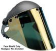 """Elvex High Heat Gold Hardcoated Lexan Face Shield 10"""" x 18.5"""" x 2mm"""