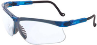 Uvex Genesis Safety Glasses with Vapor Blue Frame and Clear Lens